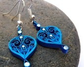 Earrings - Eco-friendly, quilled paper, paper quilling, winter earrings