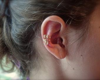 Pair of Ear Cuffs 14K Gold Ear Cuff Or Sterling Silver Ear Cuff, Alternative Earrings, Non pierced Earrings, Ear Cuffs, Earcuffs, earrings