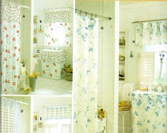 Clearance Bathroom Accessories Pattern Shower Curtain Window Treatment Valance Sink Skirt