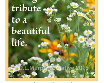 Funeral Memorial Bookmark, Printable Memory Bookmark, Memorial Bookmark, Funeral Announcement, Funeral, Memorial