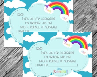 Rainbow Fill-in-the-Blank Printable Thank You Note