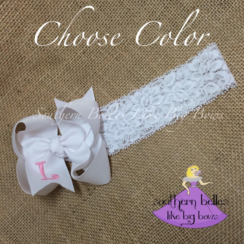 Baby Gift Monogram : Baby gift hair bow monogrammed shower