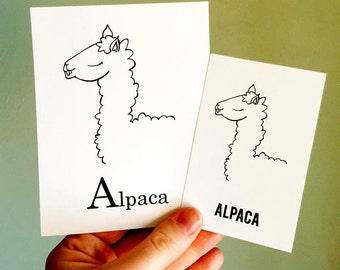 Mini ABC Flash Cards - Elle Karel Original Illustrations 100% PC Recycled Alphabet Nursery Teachers Classroom Learning Tools