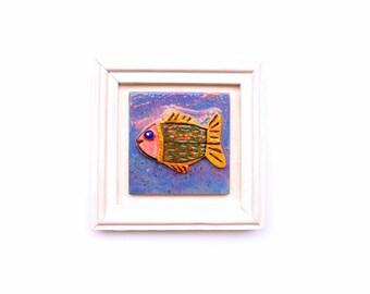Fish art, Ceramic Fish, Fish home decor, Colorful fish, Wall art fish, Summer decor