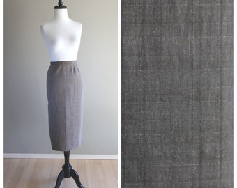 Lovely Light Brown Vintage 1950s Fitted Pencil Skirt  / TLC Repair