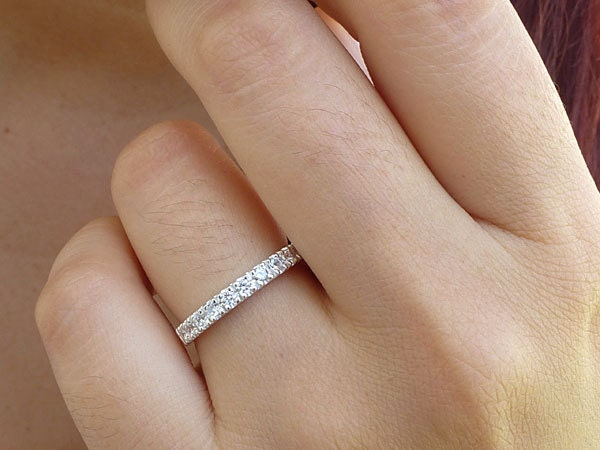in braided diamond bands ct profile art vip low band white eternity setting prong gold jewelry