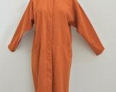 Vintage 80s GEOFFREY BEENE for GALLANT heavy wool coat dress sz 6 Dolman sleeve vtg 1980s