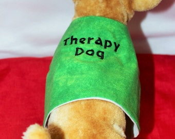 Green Therapy Dog Vest