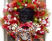 Christmas Top hat Wreath, wreath for christmas, christmas wreath