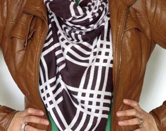 In Stock Plaid blanket scarf blanket scarves plaid scarves oversized multi color brown  scarf knit scarves gifts under 30