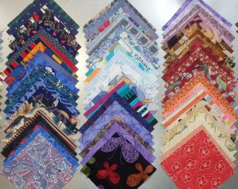 "Rainbow of 4"" Quilt Squares -- 105 Total, All Different, Multiple Sets Available -- Four Inch, All Cotton, 0041"