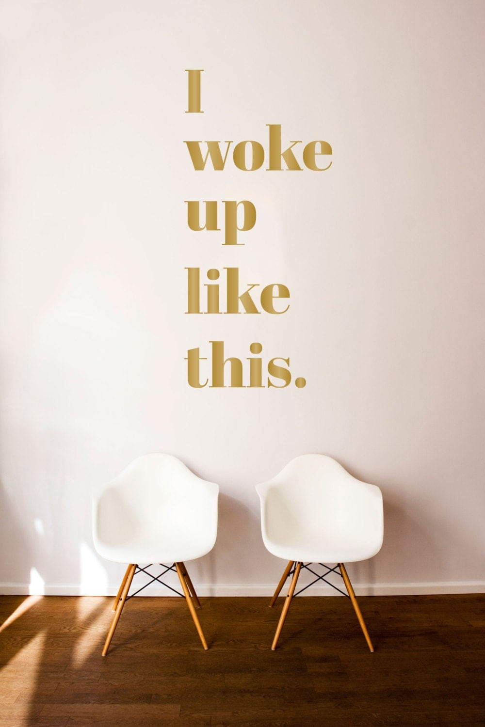 I woke up like this quote wall decal custom vinyl art zoom amipublicfo Images