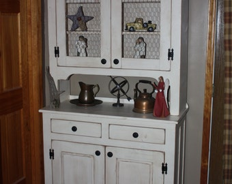 Hutch, Cupboard, FREE SHIPPING, Pantry, Primitive, Country, Distressed, Shabby, Cottage