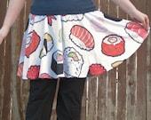 Sushi Pattern Skater Skirt