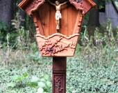 Small Alpine Wayside Shrine, Garden Crucifix Shrine
