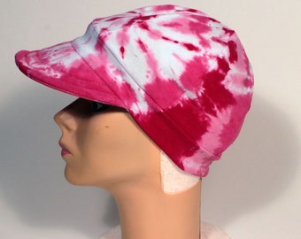 Pretty in Pink Women's Ball Cap,  Headcover, Tie Dyed,   READY TO SHIP
