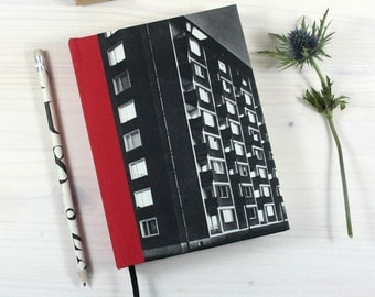 BOOK, Foto, facade, black and white, Bauhaus, 5x6,8 inch, 288 p., blank, travel journal, diary, notebook, vintage