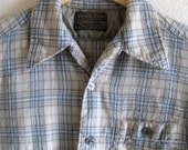 Vintage Pendleton Plaid Wool Shirt-Men's Size Medium