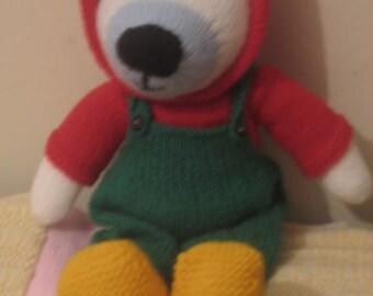 Christmas Polar Bear with Removable clothes.