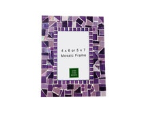 Purple Mosaic Picture Frame, 4 x 6 or 5 x 7
