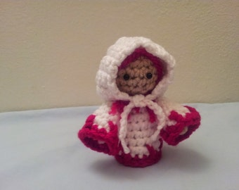 Crochet White Mage Inspired Amigurumi Doll - Stuffed/Plush Collectable Toy