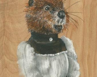Lady Beaver ORIGINAL painting