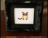 Grumpy Cat Cross Stitch Pattern - Kawaii Version  ( Printable PDF ) - Immediate Download from Etsy - Tarder Sauce Cute Kitten