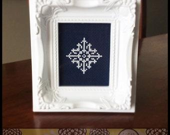 Snowflake #5 Cross Stitch PDF Pattern - Immediate Download from Etsy - Christmas Winter Series SugarStitch