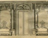1779 Antique FURNITURE PRINT. Decorative Arts. Decoration. Architecture. 235 years old gorgeous Diderot Encyclopaedia engraving.