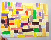 ART ABSTRACT painting Geometric art Painting canvas Abstract canvas art Contemporary art Fun painted canvas Abstract art Original painting