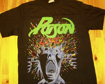 Poison Live Tour Tshirt 1988 Vintage DeadStock Open Up and Say...Ahh t shirt Blow Your Mind Tour Glam Metal rock tee ratt quiet riot