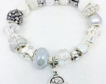 Just Married Charm Bracelet