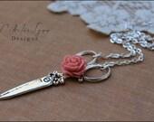 Scissor Necklace, Vintage Scissor Necklace