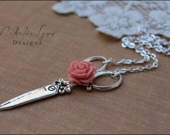 Scissor Necklace, Silver Necklace, Seamstress Necklace, Scissor Jewelry, Hairstylist Necklace, Hairdresser Necklace