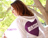 Wedding Hoodie for Purple Wedding Theme, Wedding Sweatshirt, Bride Sweatshirt, Purple Bridal Shower, Purple Bridesmaids