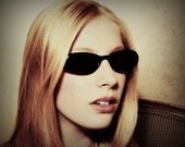 Vintage La Dolce Vita Fellini Cateye Sunglasses / Black Cat Eye Glasses / Catseye Glasses / Vintage Cateyes