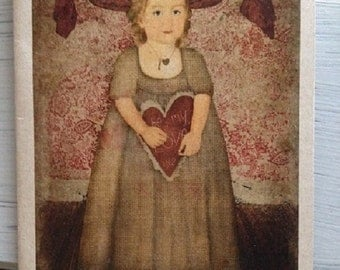 Vintage Valentine Day Card - FREE SHIPPING