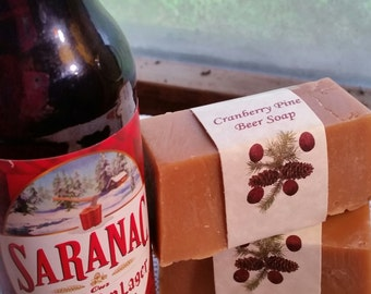 Cranberry Pine Beer Soap