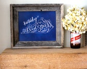 art print, hand lettered, kentucky bluegrass