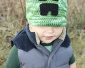Minecraft Creeper Hat EASY Crochet PDF Pattern -  Infant, Toddler, Child, & Adult Sizes. Sale - Buy 2 patterns, Get 1 FREE.