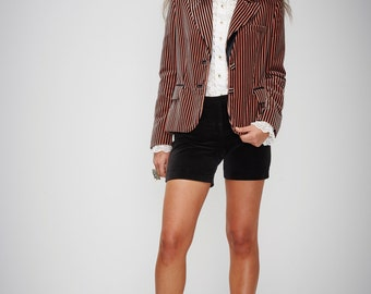 S.U.P.E.R SALE was 450 now 150 gorgeous vintage 90s BLUMARINE luxe Italian silk velvet striped jacket blazer