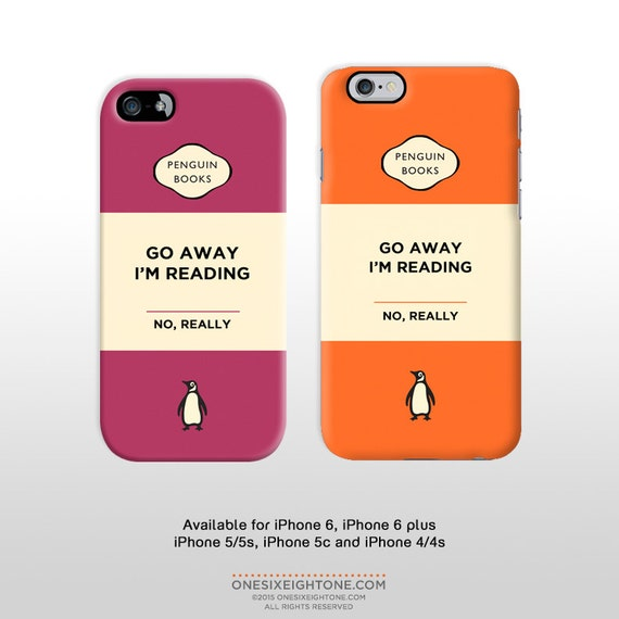 Penguin Book Phone Cover : Iphone plus go away i m reading by onesixeightone