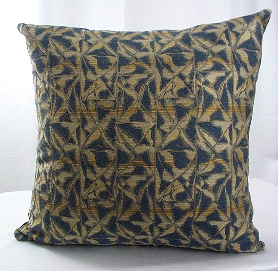 Brown Sofa Pillows: Blue And Brown Pillows Throw Pillow Covers By Artsandcreations