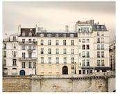 Paris print, Paris architecture, city photography, large wall art, photo poster, neutral beige grey, living room decor, 16x20, 20x20, 24x30