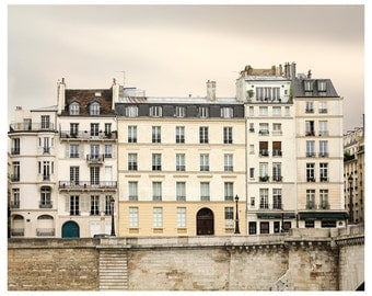 Paris print, Paris architecture art, city photography, large wall art, neutral beige grey, living room decor,8x10 16x20, 20x20, 24x30 poster