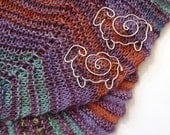 Silver Sheep Shawl Pin-- A Fleecy Little Friend Just For You!