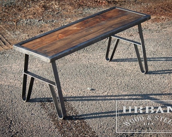 Easton Reclaimed Pine Entry  Bench