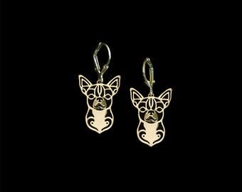 Chihuahua earings - Gold