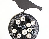 A Little Birdie Told Me*Black and White Vintage and New Button Pack