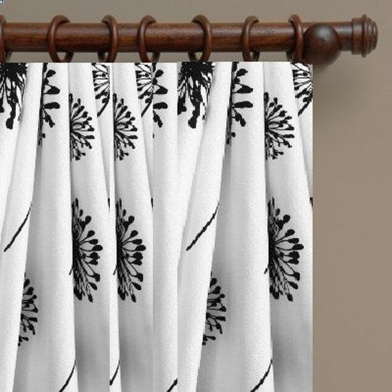 dandelion curtains sale custom made drapes themed designer fabric